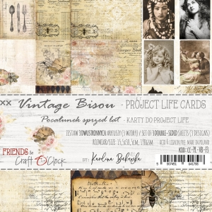 VINTAGE BISOU - ZESTAW KART DO PROJECT LIFE