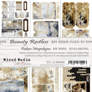BEAUTY RESTLESS - JUNK JOURNAL SET - ZESTAW DODATKÓW